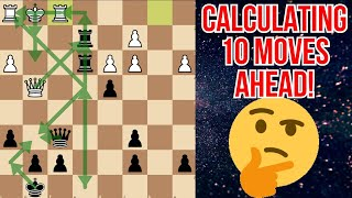 CALCULATING 10 MOVES AHEAD| Rapid chess