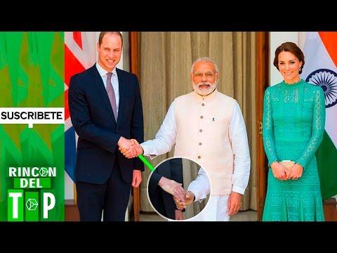 Así quedó la mano del príncipe Guillermo tras saludar al primer ministro indio