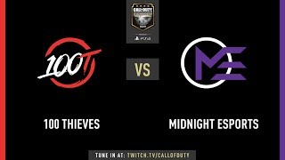 100 Thieves vs Midnight | CWL Champs 2019 | Day 2