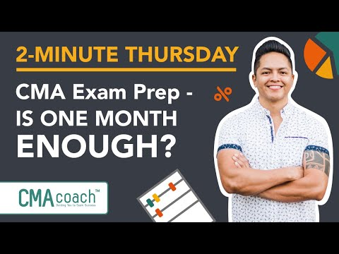 CMA Exam Prep - IS ONE MONTH ENOUGH? - YouTube