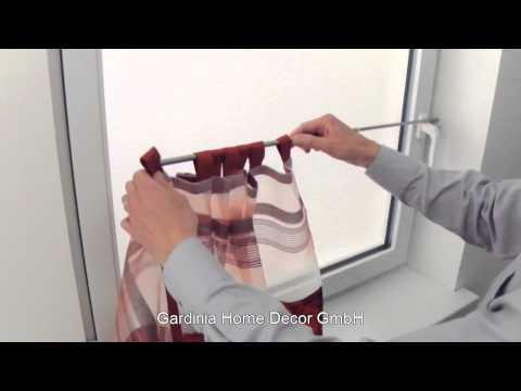 Video Gardinia Vitrážní tyčka vzpěrná Press & Go válec bílá, 80 - 110 cm 2