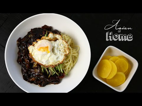 Asian at Home | Jjajangmeyon Korean Black Bean Noodles