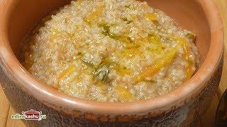 Вкусная, нежная Пшеничная Каша на воде с Овощами