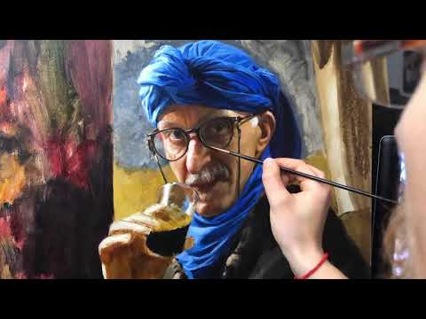 When I was in Morocco, I couldn't resist oil painting this Berber Merchant. Here is how I painted him