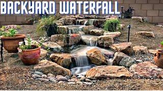 AMAZING BACKYARD WATERFALL