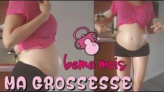 Mon 6ème mois de grossesse - bidon - test du glucose - poids - j'ai vomi