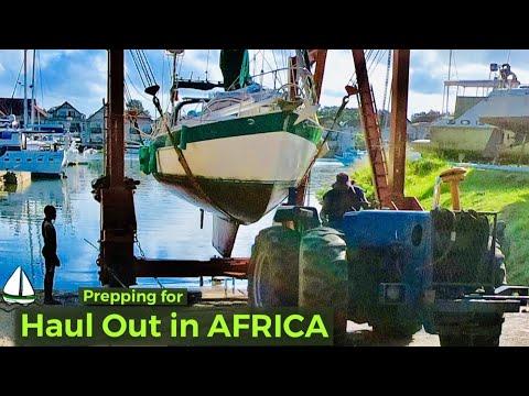 Sailboat Haul Out Tips: 1 BIG Boat,1 SMALL Travel Lift  (Patrick Childress Sailing Tips #39)