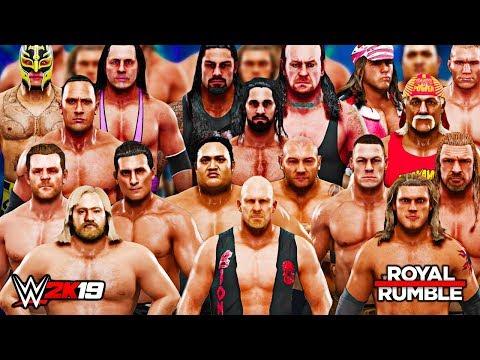 WWE 2K19 - 30 MAN ROYAL RUMBLE MATCH!! FORMER WINNERS ONLY!!