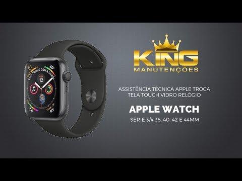 Assistência técnica Apple troca tela touch vidro relógio Apple Watch série 3/4 38, 40, 42 e 44mm