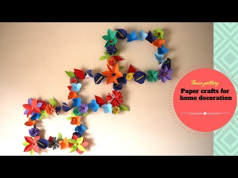 DIY ideas : Newspaper/Magazine Wall Decor | Paper crafts for home decoration | Best out of waste