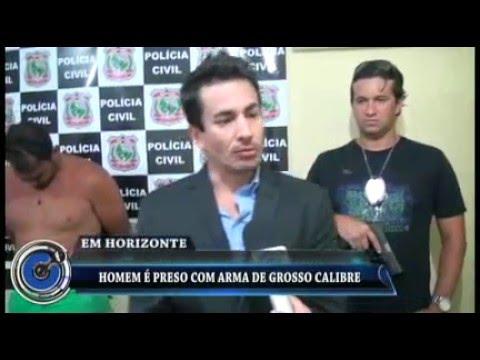 Em Horizonte-CE/ Homem é preso acusado de esconder armas em açude