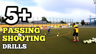 5+ Passing & Finishes Shooting Drills with 7 Year Old Amir ⚽️