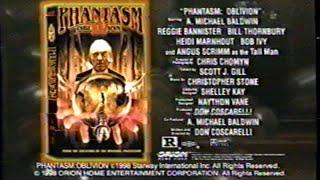 Phantasm IV: Oblivion (1998) Video