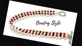 Simple Handmade Bracelet. How To Make A Beaded Bracelet. Beading For Beginners