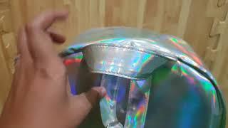 Tas Ransel Sekolah  Wanita Hologram