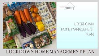 4 WEEK LOCKDOWN HOME MANAGEMENT PLAN