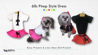 DIY Dog clothes-Retro 60s dress