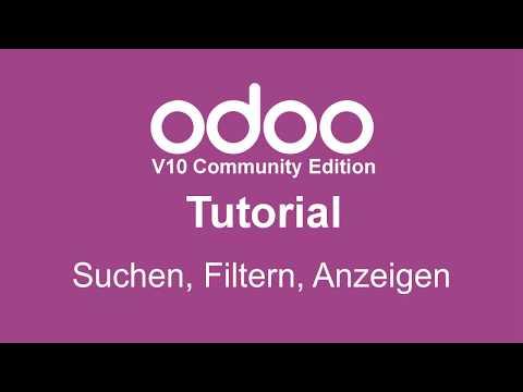 odoo - Suchen und Anzeigen von Daten Webinar