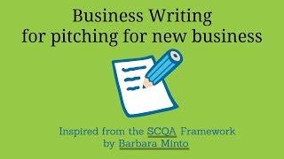 Business Writing - SCQA Framework   Hindi