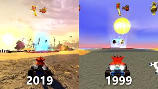 Crash Team Racing / Nitro-Fueled - Adventure Mode Graphics Comparison