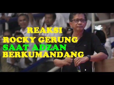 Reaksi Rocky Gerung Saat Adzan Berkumandang