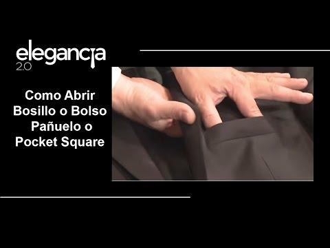 Como Abrir Bolsillo para Pañuelo o Pocket Square - Bere Casillas (Elegancia 2.0)