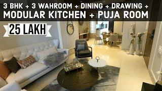 Luxurious Interior Design Apartments 3 BHK + 3 Washroom + Drawing Hall + Dining + Modular Kitchen