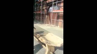Holztisch Sandstrahlen
