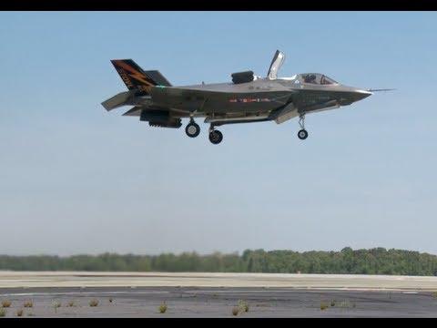 تجربة الإقلاع العامودي للطائرة الحربية F-35B