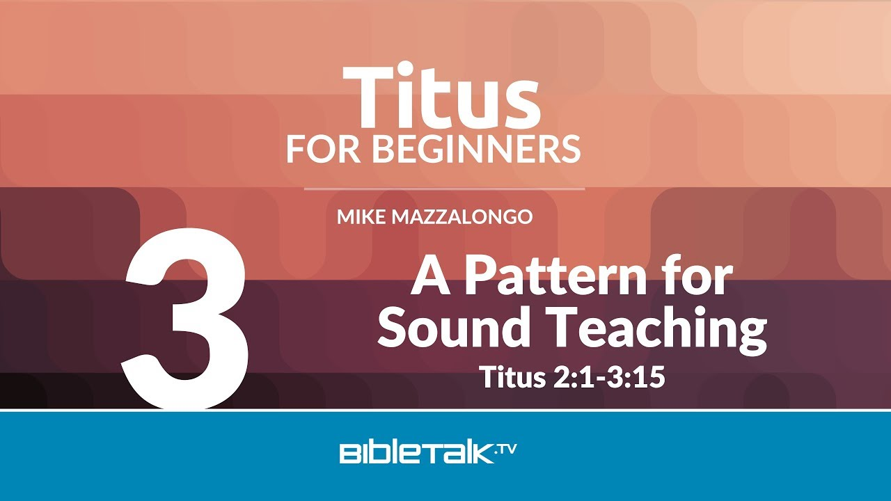 3. A Pattern for Sound Teaching