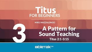 A Pattern for Sound Teaching