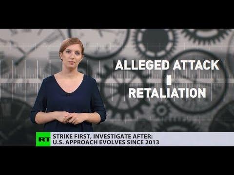 Evolution of US approach: Alleged attack –  ̶I̶n̶v̶e̶s̶t̶i̶g̶a̶t̶i̶o̶n̶  –  Retaliation