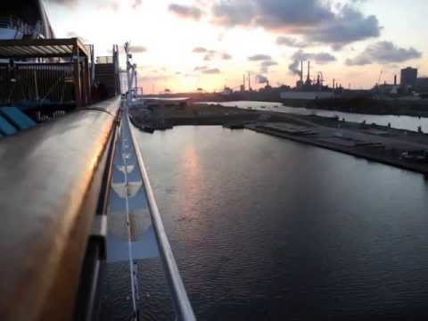 Huge Cruise ship through the North Sea Canal   Stop motion