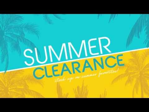 Summer Clearance Sale - 2018