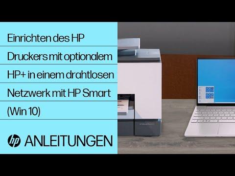 Einrichten Ihres HP Druckers in einem drahtlosen Netzwerk mit HP Smart unter Windows 10