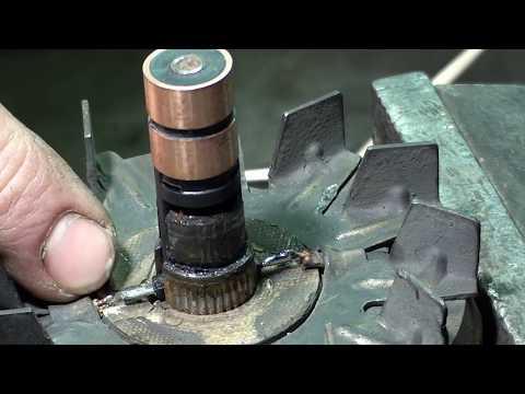 Как заменить токосъемные кольца якоря генератора ВАЗ. Подробно. Пайка. Съем колец.