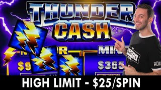 HIGH LIMIT - $25/SPIN ⚡ Thunder Cash at Seven Feathers #ad
