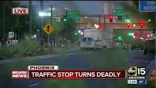 Suspect dies after being shot by Phoenix Police downtown, officer hurt in incident