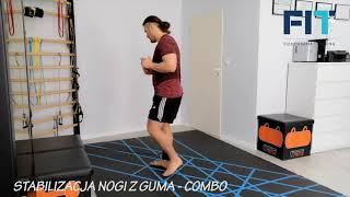 Stabilizacja nogi z gumą – combo – BNS007