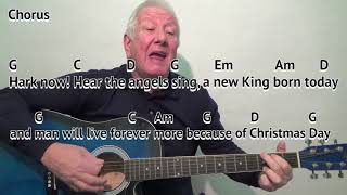 Mary's Boy Child - key G - Christmas carol - easy chord guitar lesson - on-screen chords and lyrics