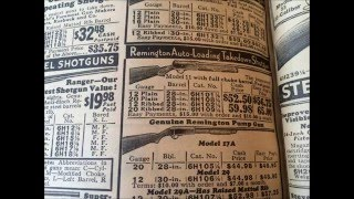 Antique Gun Rifle Double Barrel Shotgun Price Ads 1932 Sears Catalog Ranger Repeater Remington