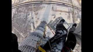 Высотные работы на останкинской башне.