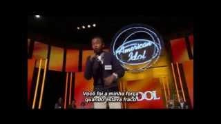 "American Idol - David Leathers Jr. ""Because you loved me"" Legendado PTBR"