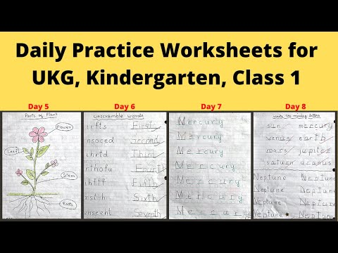 Daily Practice Activity Sheets for 4-6 year Old | DIY Worksheets for Kindergarten, UKG, Class 1