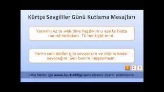 Kürtçe Sevgililer Günü Kutlama Mesajları