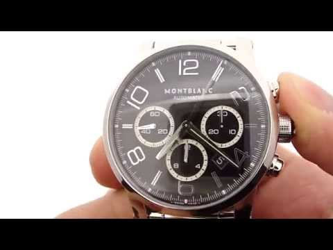 Montblanc Timewalker 36062 w/ black and silver dial