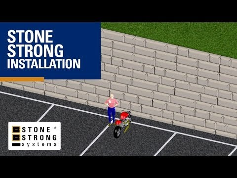 Stone Strong Wall 3D Animation from Comcrib