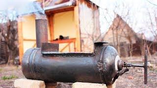 Как сделать печь для бани из газового баллона