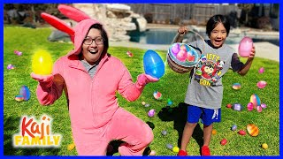 Ryan's Easter egg hunt Challenge with Bunny Daddy!!!