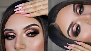 BRONZEY CUT CREASE TUTORIAL FOR HOODED EYES|daimier